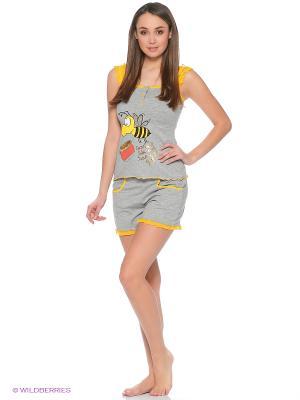 Пижама Cascatto. Цвет: серый