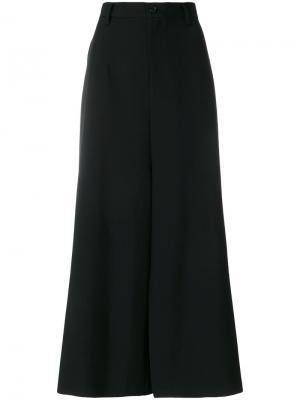 Расклешенные брюки А-образного силуэта Junya Watanabe Comme Des Garçons. Цвет: чёрный