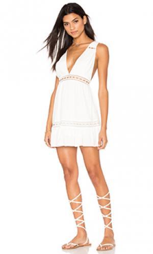 Платье gabriel STONE_COLD_FOX. Цвет: белый