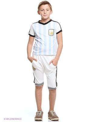 Комплект одежды Kidly. Цвет: белый, голубой