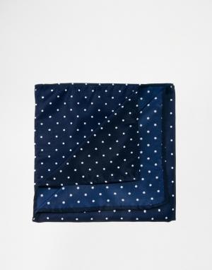 ASOS Платок для нагрудного кармана в горошек. Цвет: темно-синий