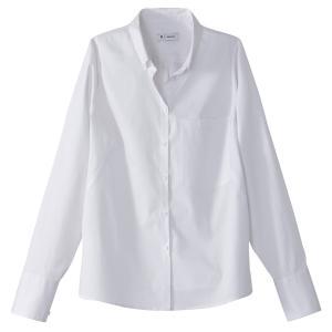 Рубашка хлопковая с длинными рукавами La Redoute Collections. Цвет: белый