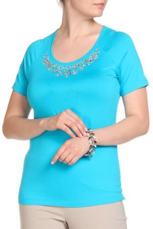 Блуза SARAH KERN. Цвет: аквамарин