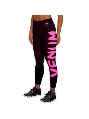 Тайтсы Venum Giant Black/Neo pink. Цвет: черный, розовый