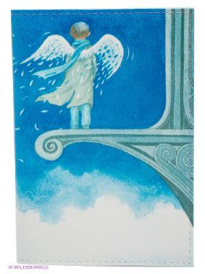 Обложка для автодокументов Ангел в небесах Mitya Veselkov. Цвет: белый, синий