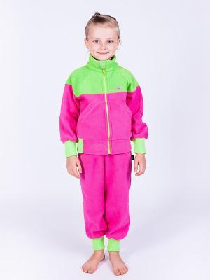 Штаны Чемпион ЛисФлис. Цвет: салатовый, розовый