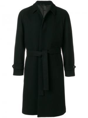 Однобортное пальто Hevo. Цвет: чёрный