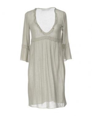Короткое платье KRISTINA TI. Цвет: светло-серый