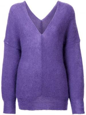 Джемпер с опущенной линией плеча G.V.G.V.. Цвет: розовый и фиолетовый