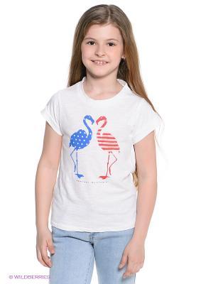 Футболка American Outfitters. Цвет: белый, синий, красный