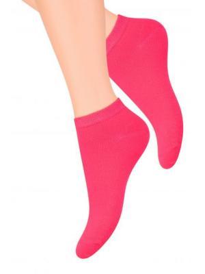 Носки женские Steven. Цвет: малиновый