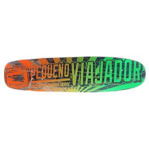 Дека для скейтборда лонгборда  No Entiendo Viajador Orange/Green 30 x 7.65 (19.4 см) Antihero. Цвет: оранжевый,зеленый