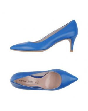 Туфли LORENZO MARI. Цвет: ярко-синий