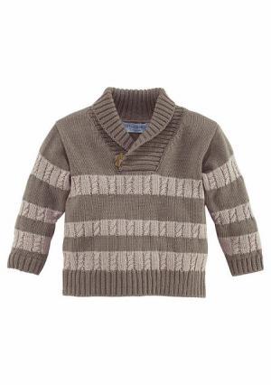 Пуловер KLITZEKLEIN. Цвет: коричневый меланжевый