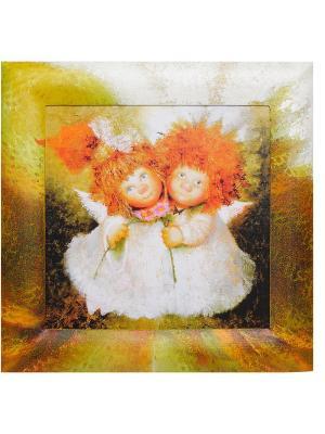 Картина Неразлучные Artangels. Цвет: оранжевый, красный, серый