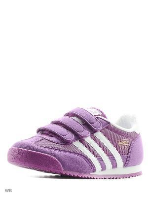 Кроссовки дет. спорт. DRAGON CF C Adidas. Цвет: фиолетовый