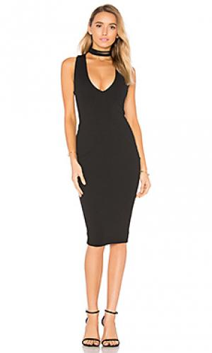 Платье миди diva Nookie. Цвет: черный