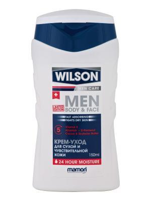 Крем-уход Men Care Body & Face для сухой и чувствительной кожи,  2 шт Wilson. Цвет: белый