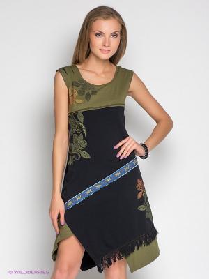 Платье Coline. Цвет: черный, зеленый