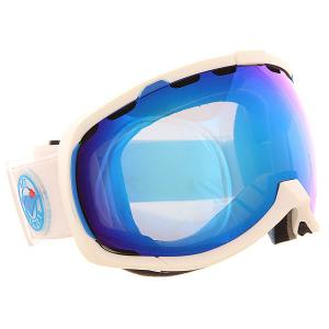 Маска для сноуборда  Bomber Nw Icon Matte White Ice Blue Smoke I/S Eyewear. Цвет: белый,синий