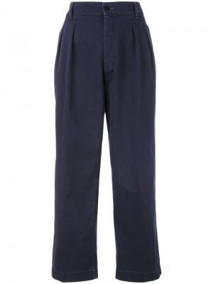 Укороченные брюки The Seafarer. Цвет: синий