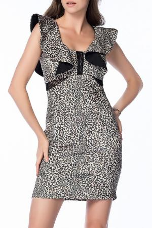 Платье Olgun orkun. Цвет: black and white