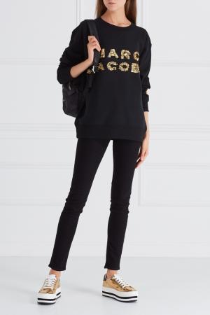 Хлопковый свитшот Marc Jacobs. Цвет: черный