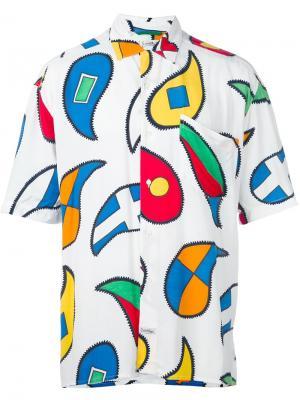 Рубашка с геометрическим принтом Jc De Castelbajac Vintage. Цвет: белый