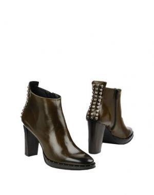 Полусапоги и высокие ботинки ZINDA. Цвет: темно-зеленый