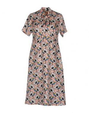 Платье до колена ORLA KIELY. Цвет: розовый
