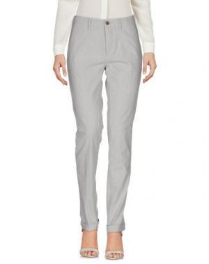 Повседневные брюки SIVIGLIA WHITE. Цвет: светло-серый