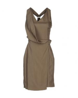 Короткое платье GIULIANO FUJIWARA. Цвет: хаки