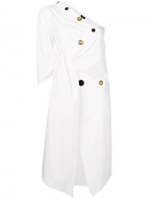 Layered day dress Ji Oh. Цвет: белый