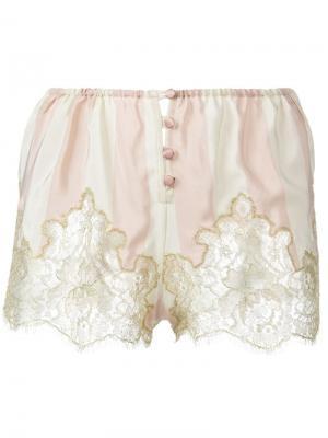 Полосатые пижамные шорты Rosamosario. Цвет: розовый и фиолетовый