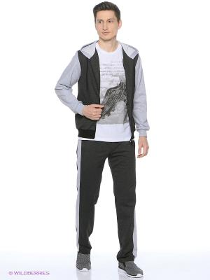 Спортивный костюм FORLIFE. Цвет: темно-серый, светло-серый