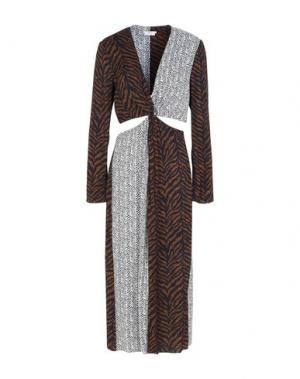 Платье длиной 3/4 EDUN. Цвет: коричневый