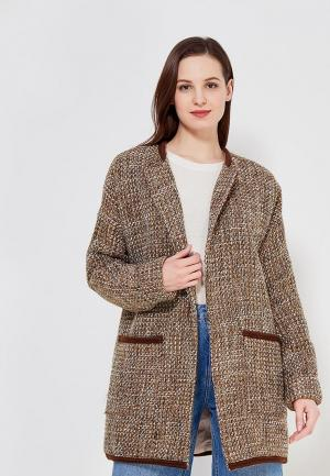 Пальто Adore Atelier. Цвет: коричневый