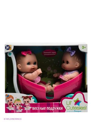 Кукла, 2 шт с коляской JC Toys. Цвет: розовый