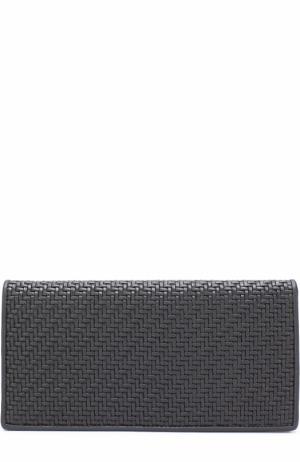 Кожаный бумажник с отделениями для кредитных карт Ermenegildo Zegna. Цвет: черный