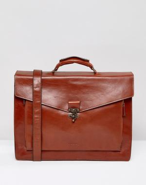 Royal RepubliQ Кожаный портфель Conductor. Цвет: коричневый
