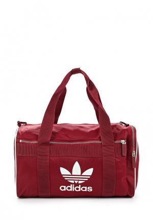 Сумка спортивная adidas Originals. Цвет: бордовый