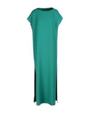 Длинное платье MARIAGRAZIA PANIZZI. Цвет: светло-зеленый