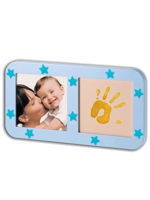 Рамочка с отпечатком Звездная Baby Art. Цвет: голубой
