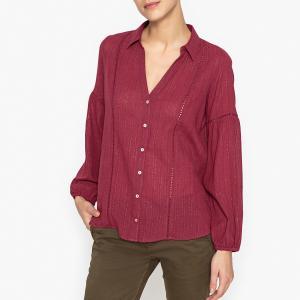 Рубашка блестящая LAKOTA BA&SH. Цвет: сливовый,экрю