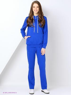 Спортивный костюм FORLIFE. Цвет: синий