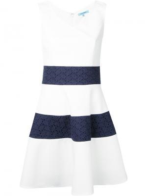 Расклешенное платье с полосками Guild Prime. Цвет: белый