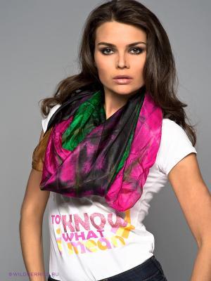 Палантин Sabellino. Цвет: розовый, зеленый, коричневый