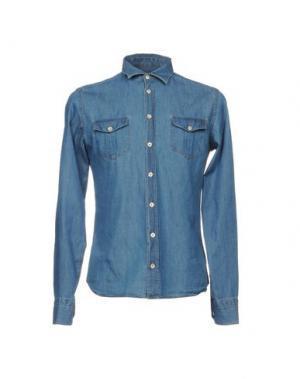 Джинсовая рубашка VAPOFORNO MILANO. Цвет: синий