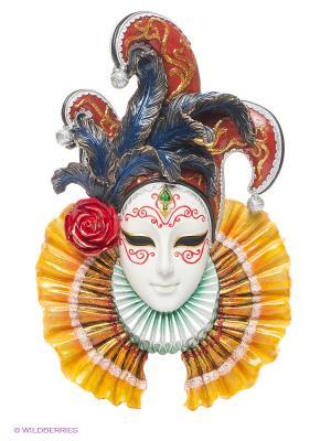 Венецианская маска Шут Veronese. Цвет: желтый, белый, красный, синий