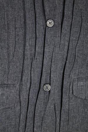 Блузка из жатой ткани Adolfo Dominguez. Цвет: серый